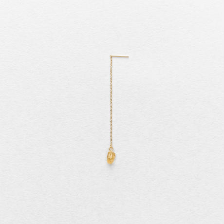 Gold Grossular Drop Earring