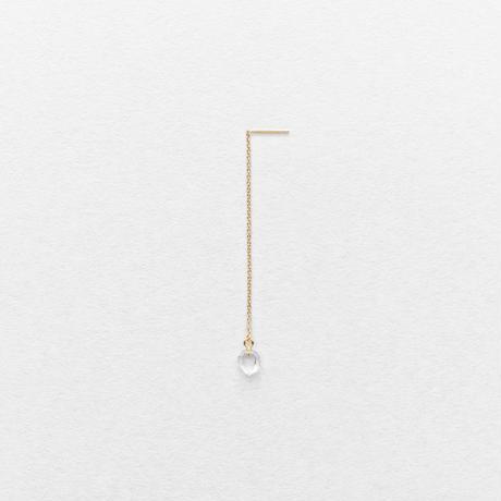 Diamond Quartz Drop Earring