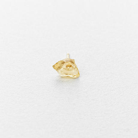 Gold Grossular Rock Earring