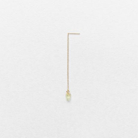 Green Grossular Drop Earring