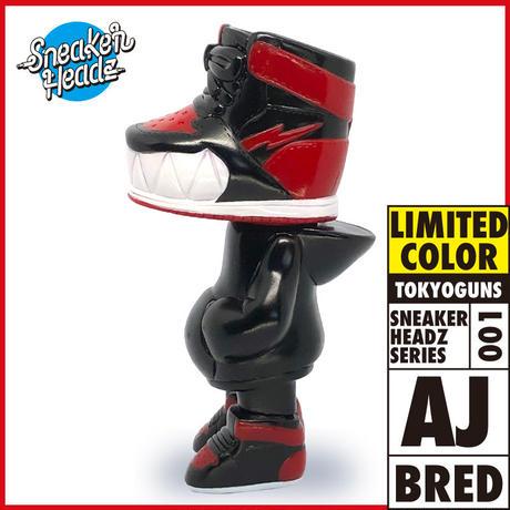 ソフトビニールトイ スニーカーヘッズ AJ  限定ブレッドカラー Soft Vinyl Toy 「Sneakerheadz」Bred Color(Limited)