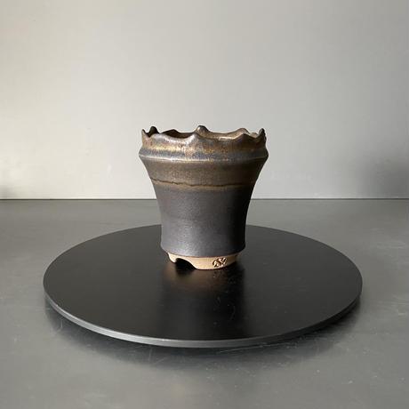 【 S.N.Pot  - crown - 3号 】王冠型  笠間焼  植木鉢  SN-13
