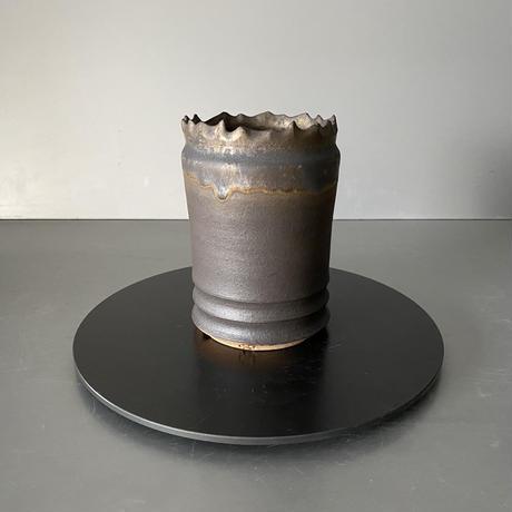 【 S.N.Pot  - crown - 3号 】冠煙突型  笠間焼  植木鉢  SN-10