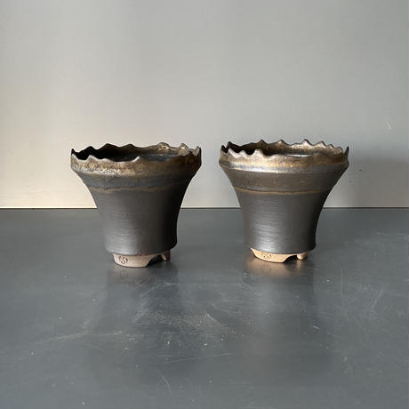 【 S.N.Pot  ver.1 - crown - 4号 】王冠型  笠間焼  植木鉢