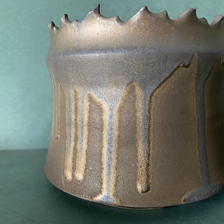 【 S.N.Pot ''土管'' - crown - 5号 】笠間焼  植木鉢