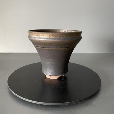 【 S.N.Pot  - horizon - 4号 】水平型  笠間焼  植木鉢  SN-16