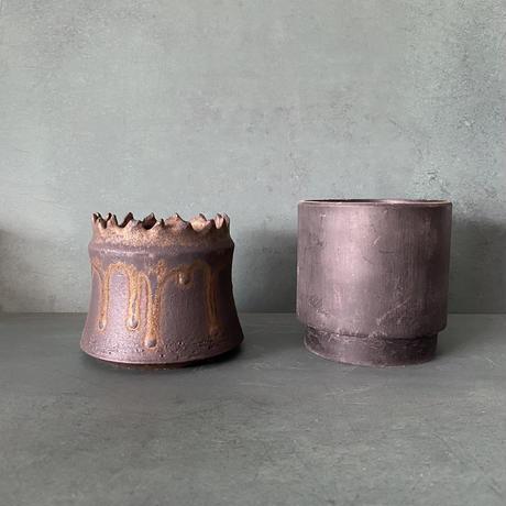 【 S.N.Pot ''土管'' - crown - 3号 】笠間焼  植木鉢