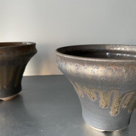 【 S.N.Pot ver.1  - horizon - 5号 】水平型  笠間焼  植木鉢