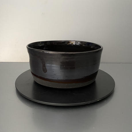 【 Do-kyo-pot M 】 浅鉢(角) ~ 銅鏡 ~ 5.5号鉢 笠間焼 No. 66