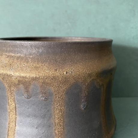 【 S.N.Pot ''土管'' - horizon - 4号 】笠間焼  植木鉢