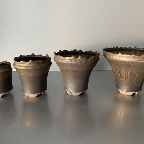 【 S.N.Pot  - horizon - 3号 】水平型  笠間焼  植木鉢  SN-14