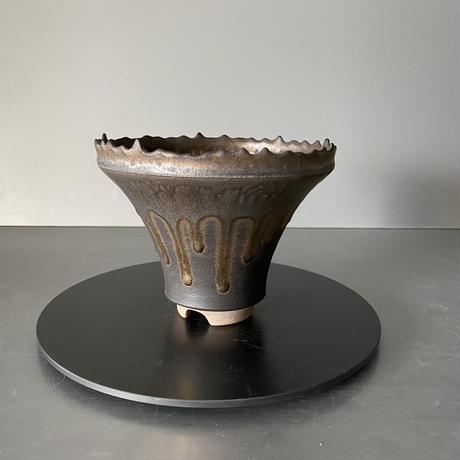 【 S.N.Pot  ver.1 - crown - 5号 】王冠型   笠間焼  植木鉢