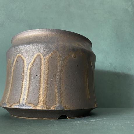 【 S.N.Pot ''土管'' - horizon - 5号 】笠間焼  植木鉢