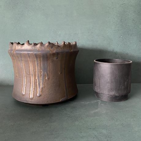 【 S.N.Pot ''土管'' - crown - 6号 】笠間焼  植木鉢
