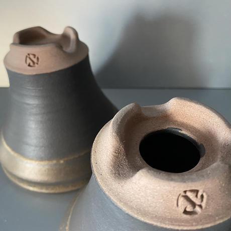 【 S.N.Pot ver.1 - horizon - 4号 】水平型  笠間焼  植木鉢