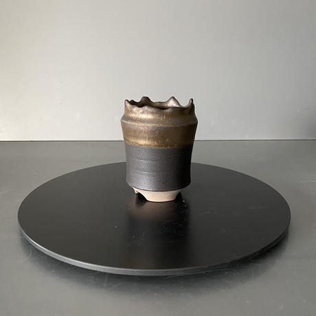 【 S.N.Pot  - crown - 2号 】王冠型  笠間焼  植木鉢  SN-11