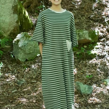 Wide Sleeve Dress (Dark Green)