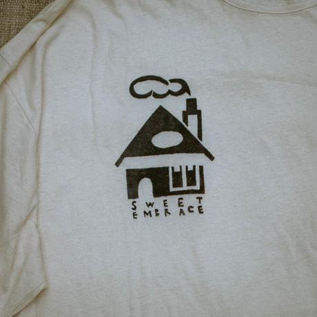 型染め / Oversize T-shirts (House & Door/Blue)