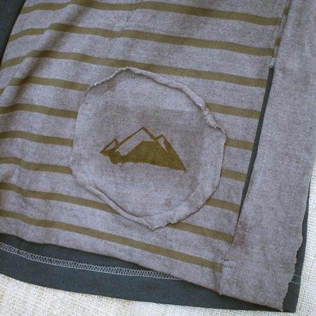 Patchwork Half Pants / Blue (M size)