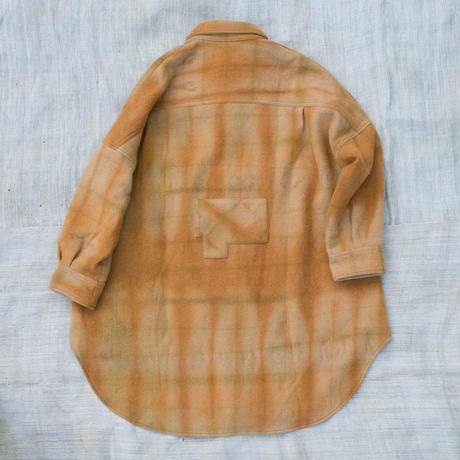 草木染 CPO Wool Coat  (Orange)