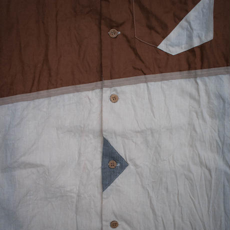 Bowling Shirt M size (Brown)