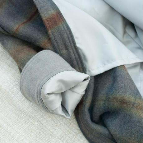 草木染 CPO Wool Coat (Gray  Purple)
