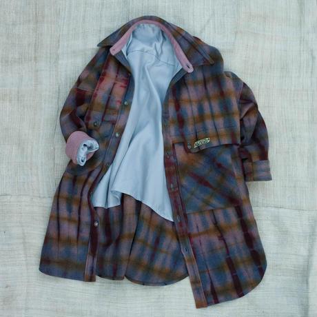草木染 CPO Wool Coat (Violet  Purple)
