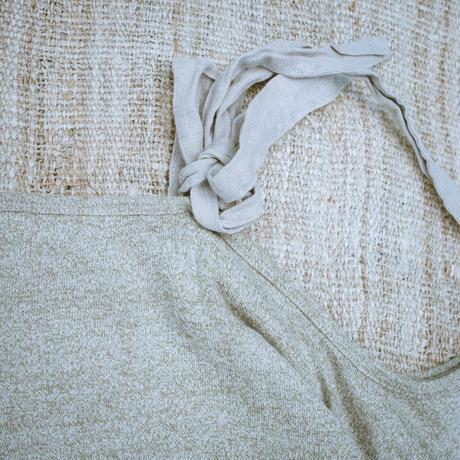 Off Shoulder Hemp Cotton Dress