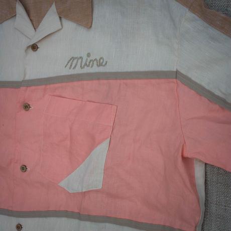 Bowling Shirt S size (Pink)