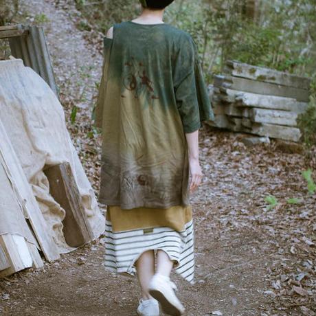 Rebirth Tee  Skirt (Green×Blue)