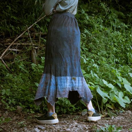 Rebirth Tee  Skirt (Blue×Maroon)