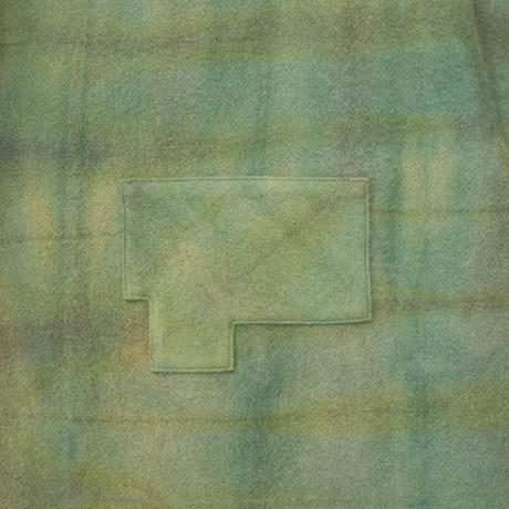 草木染 CPO Wool Coat (Yellow Green)