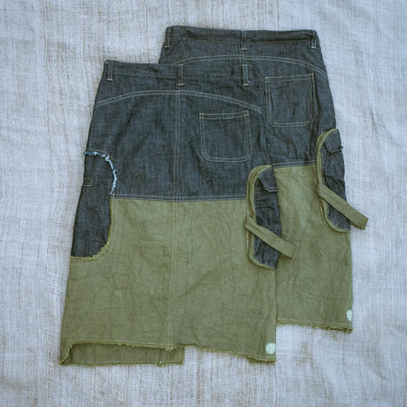 Cargo Pocket Skirt (Green) / Meek Weed