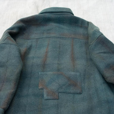 草木染 CPO Wool Coat (Navy)