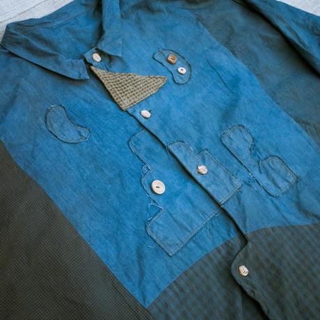 牧歌的Shirt (藍 / ヤマモモ)