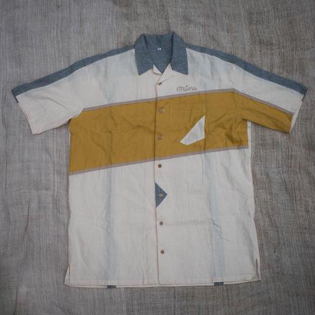 Bowling Shirt M size (Yellow)
