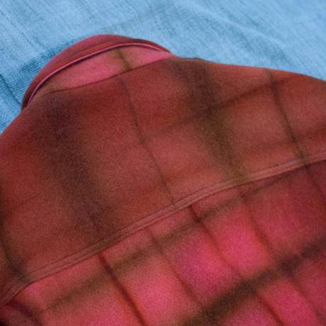 草木染 CPO Wool Coat (Scarlet Red)