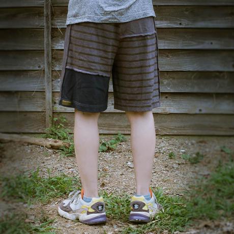 Patchwork Half Pants / Blue (S size)