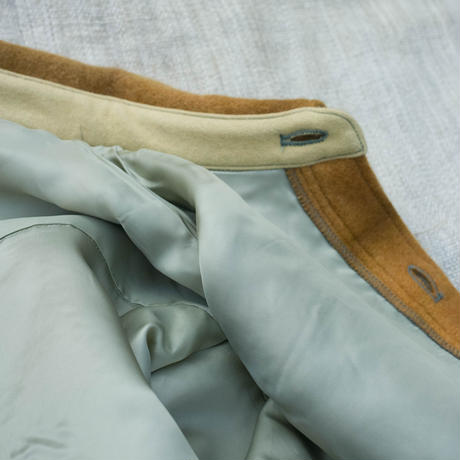 草木染 CPO Wool Coat (Dark Orange)