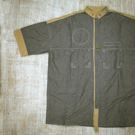 Uniform Shirt (L size  Indigo)