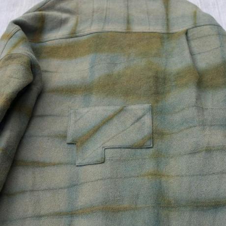 草木染 CPO Wool Coat (Green)