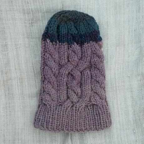 Corn Head Knit Cap (Purple Navy)