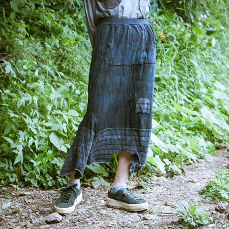 Rebirth Tee  Skirt (Blue×Gray)