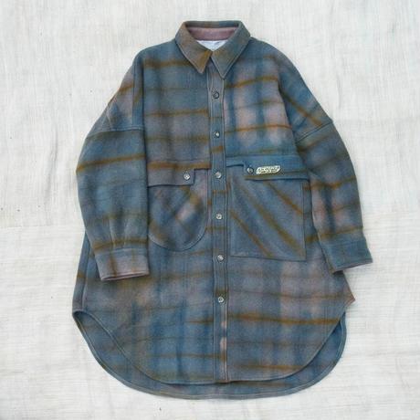 草木染 CPO Wool Coat (Purple)