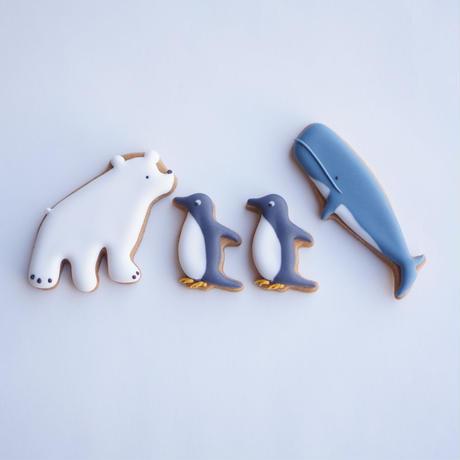 動物セット(シロクマ・ペンギン・クジラ)※到着日指定商品【アイテム説明●参照】