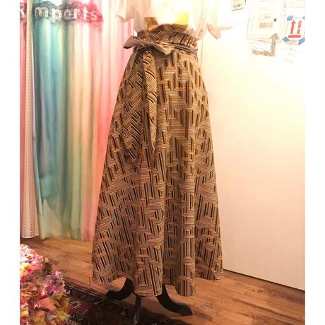 Bouncy Skirt  バウンシースカート ラップスカート  brown geome