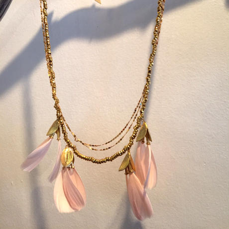 serefina  Dancing Feather Statement Necklace