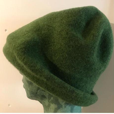 ウール ハット mix green