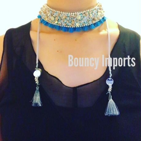 Deepa Gurnani Kesha Necklace TURQ