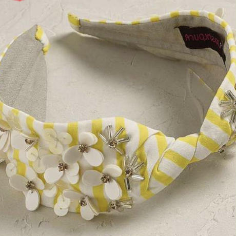 Namrata Joshipura Head Band ヘアアクセサリー   Yellow/white flower